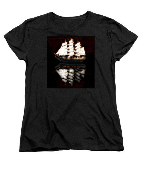 Women's T-Shirt (Standard Cut) featuring the photograph Sail Away by Aaron Berg