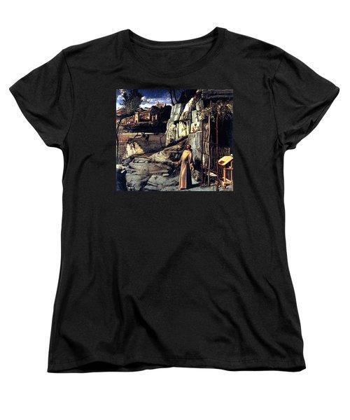 Saint Francis In Ecstasy 1485 Giovanni Bellini Women's T-Shirt (Standard Cut) by Karon Melillo DeVega