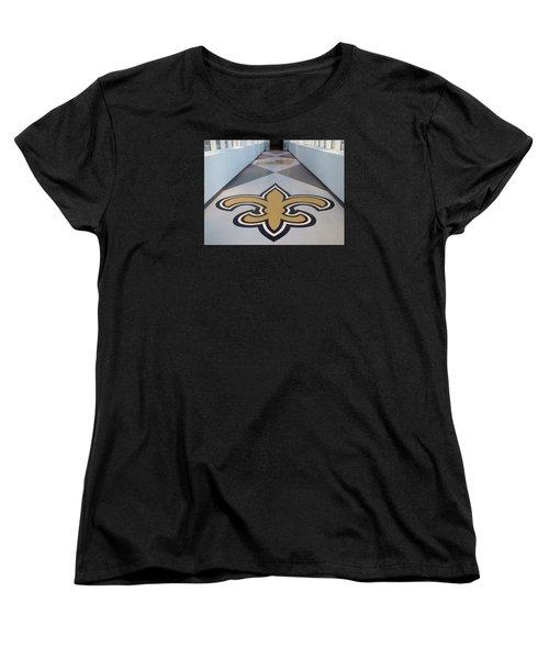Saints Are Coming - Benson Towers - New Orleans La Women's T-Shirt (Standard Cut) by Deborah Lacoste