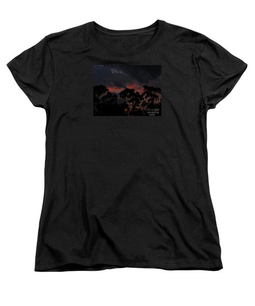 Women's T-Shirt (Standard Cut) featuring the photograph Salmon Sunset by Greg Patzer