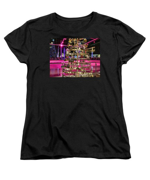 Women's T-Shirt (Standard Cut) featuring the photograph Salt Lake City - Skating Rink - 1 by Ely Arsha