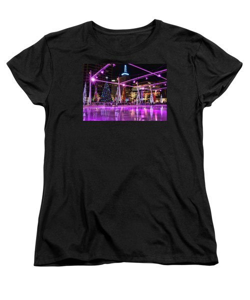 Women's T-Shirt (Standard Cut) featuring the photograph Salt Lake City - Skating Rink - 2 by Ely Arsha