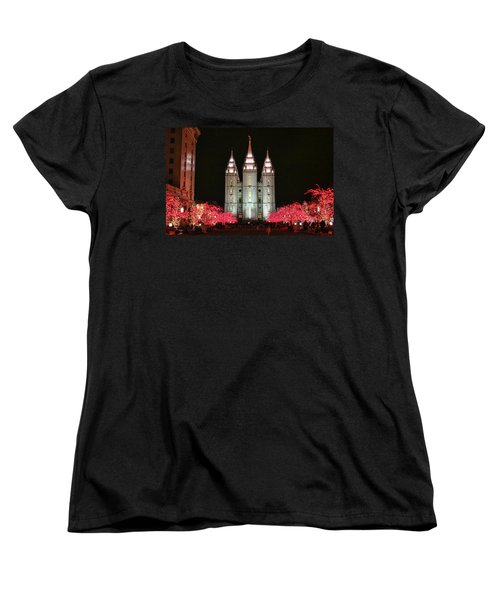 Women's T-Shirt (Standard Cut) featuring the photograph Salt Lake Temple - 1 by Ely Arsha