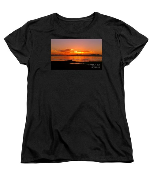 Salt Lakes A Fire Women's T-Shirt (Standard Cut) by Chris Tarpening