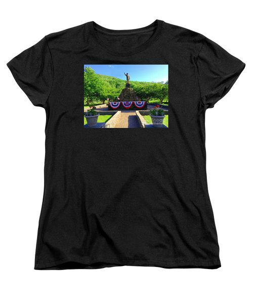 Women's T-Shirt (Standard Cut) featuring the photograph Salute To Our Hero's  by Becky Lupe