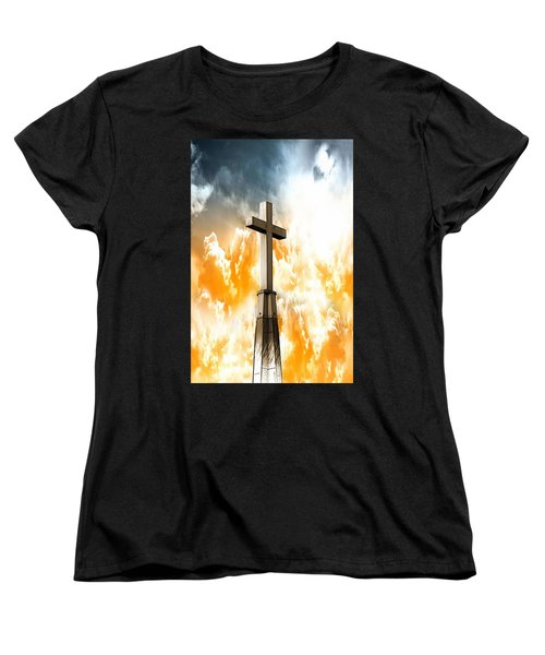 Women's T-Shirt (Standard Cut) featuring the photograph Salvation From Heaven by Aaron Berg
