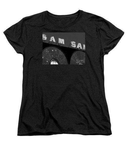 Sam The Record Man At Night Women's T-Shirt (Standard Cut) by Nina Silver
