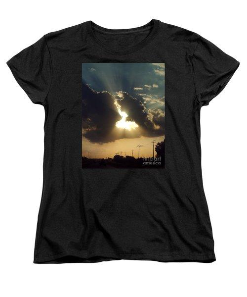 Women's T-Shirt (Standard Cut) featuring the photograph San Antonio Sunset by Peter Piatt