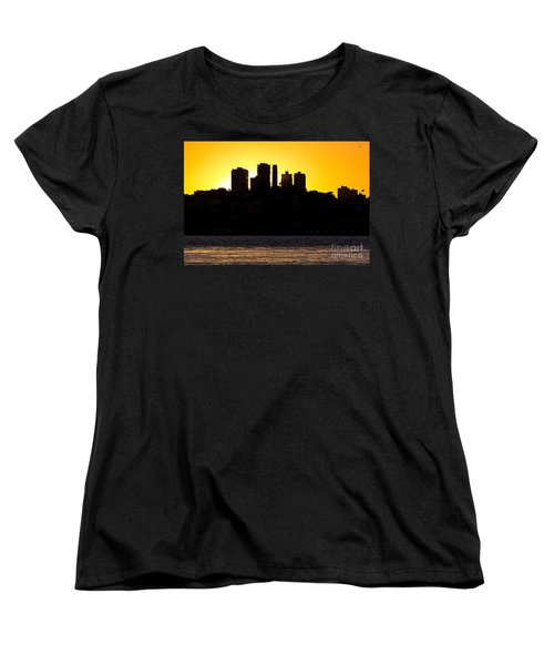San Francisco Silhouette Women's T-Shirt (Standard Cut) by Kate Brown