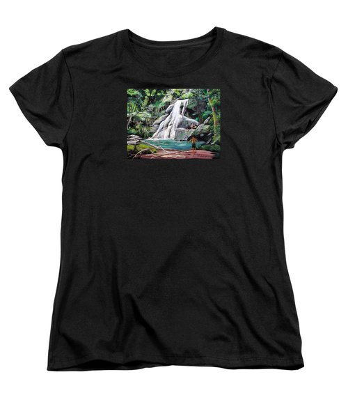 San Sebastian Waterfall Women's T-Shirt (Standard Cut) by Luis F Rodriguez