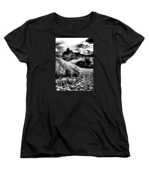 Women's T-Shirt (Standard Cut) featuring the photograph Sand In Ma Shoes by Robert McCubbin