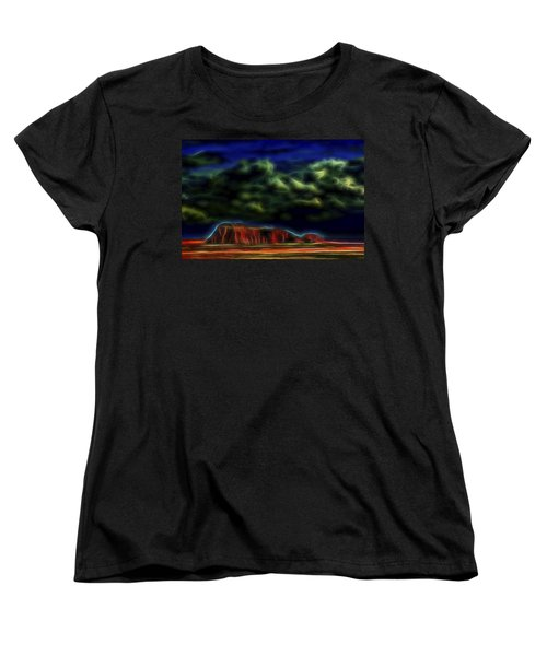 Women's T-Shirt (Standard Cut) featuring the digital art Sandstone Monolith 1 by William Horden