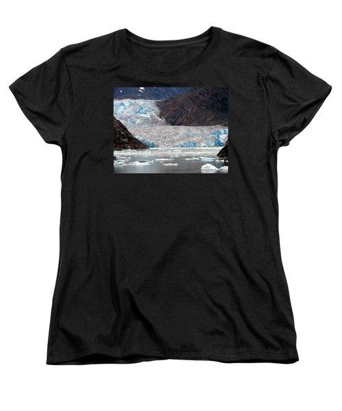 Women's T-Shirt (Standard Cut) featuring the photograph Sawyer Glacier by Jennifer Wheatley Wolf