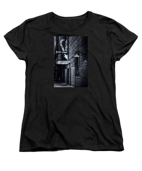 Scat Lounge In Cool Black And White Women's T-Shirt (Standard Cut)