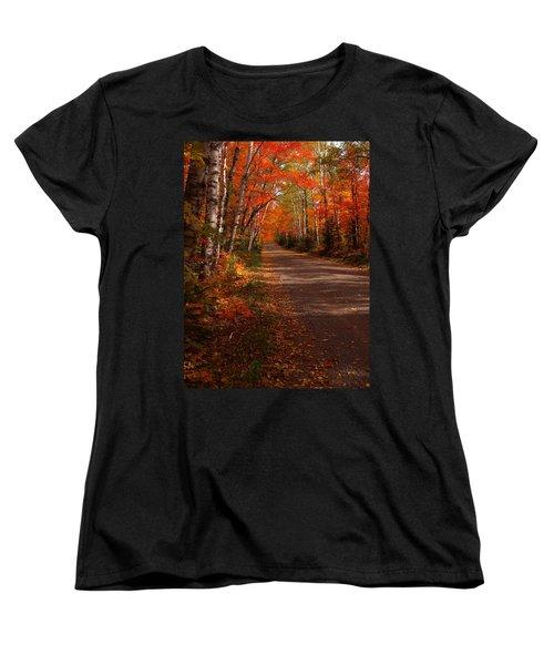 Scenic Maple Drive Women's T-Shirt (Standard Cut) by James Peterson