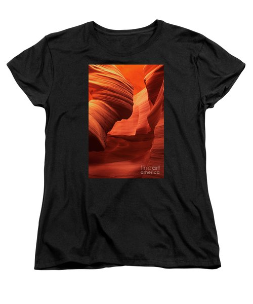 Women's T-Shirt (Standard Cut) featuring the photograph Sculpted Sandstone Upper Antelope Slot Canyon Arizona by Dave Welling