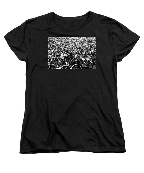 Women's T-Shirt (Standard Cut) featuring the photograph Sea Of Bicycles 3 by Joey Agbayani