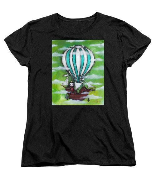 Sea Of Clouds Women's T-Shirt (Standard Cut) by Abril Andrade Griffith