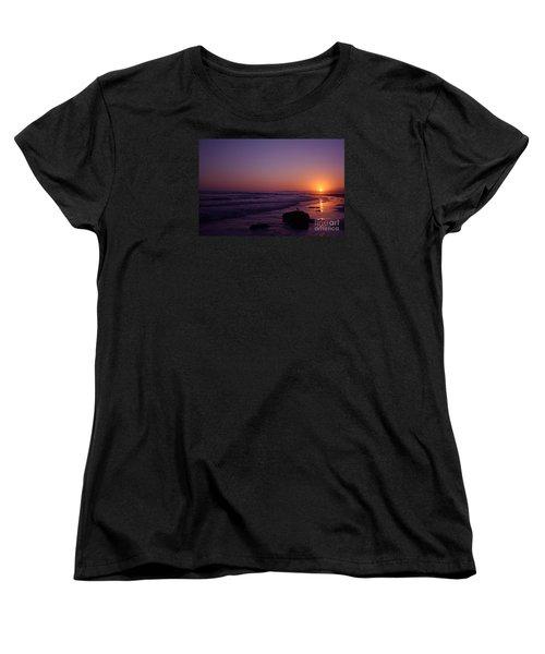 Seagull Watching The Sunset Carpinteria State Beach Women's T-Shirt (Standard Cut) by Ian Donley