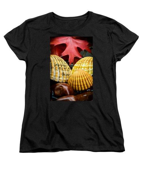 Seashells II Women's T-Shirt (Standard Cut) by Marco Oliveira