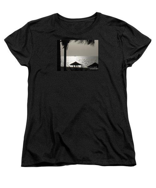 Women's T-Shirt (Standard Cut) featuring the photograph Seaside Dinner For Two by Patti Whitten