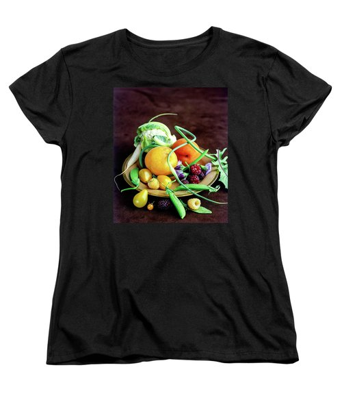 Seasonal Fruit And Vegetables Women's T-Shirt (Standard Cut) by Romulo Yanes