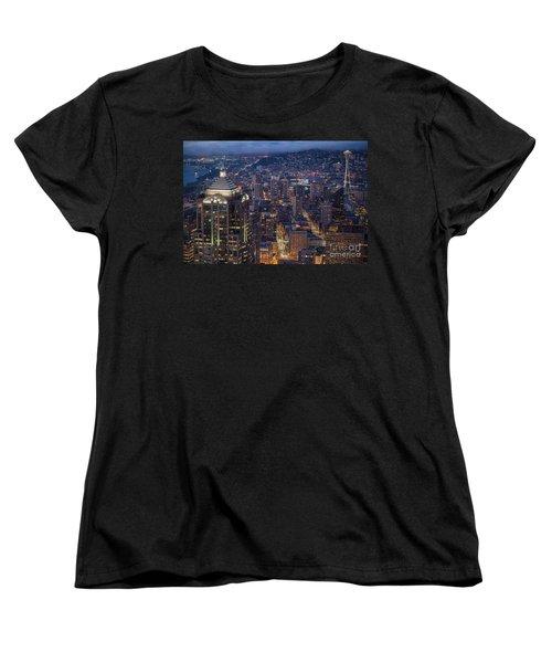 Seattle Urban Details Women's T-Shirt (Standard Cut) by Mike Reid
