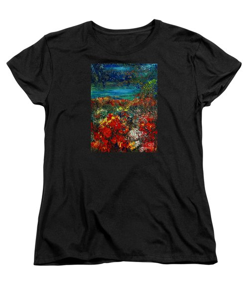 Secret Garden Women's T-Shirt (Standard Cut) by Teresa Wegrzyn