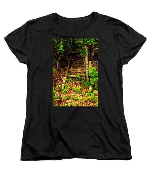 Women's T-Shirt (Standard Cut) featuring the photograph Secret Stairway by Bartz Johnson