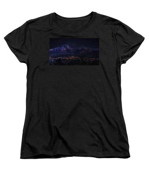 Sedona By Night Women's T-Shirt (Standard Cut)