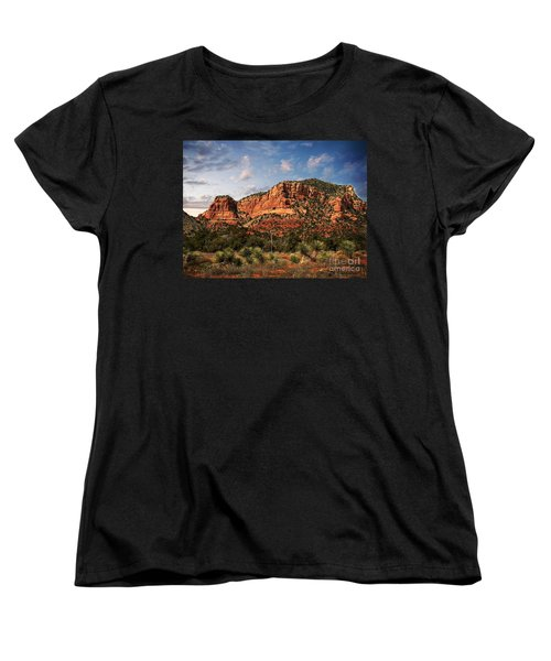 Women's T-Shirt (Standard Cut) featuring the photograph Sedona Vortex  And Yucca by Barbara Chichester