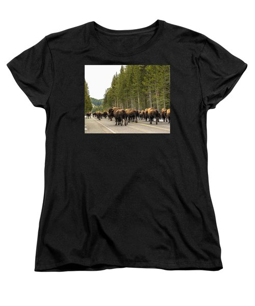 Women's T-Shirt (Standard Cut) featuring the photograph See You In Spring by Yeates Photography