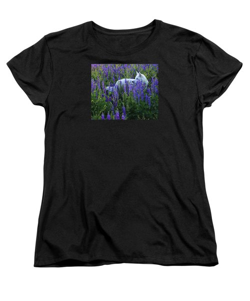 Women's T-Shirt (Standard Cut) featuring the photograph Sekani In Lupine by Sean Sarsfield