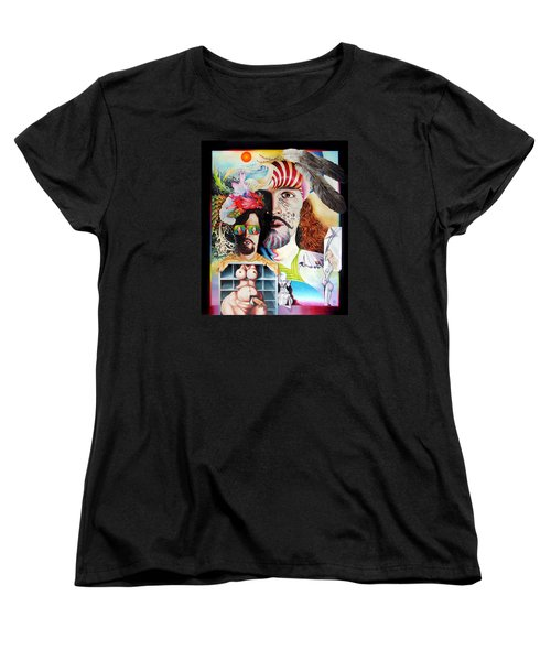 Selfportrait With The Critical Eye Women's T-Shirt (Standard Cut) by Otto Rapp