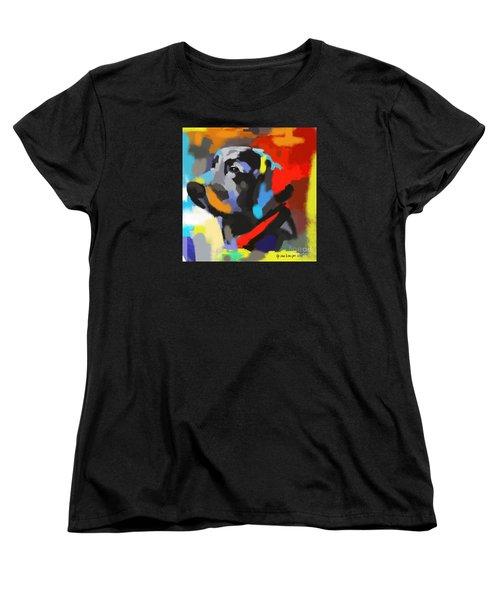 Women's T-Shirt (Standard Cut) featuring the painting Dog Sem by Go Van Kampen