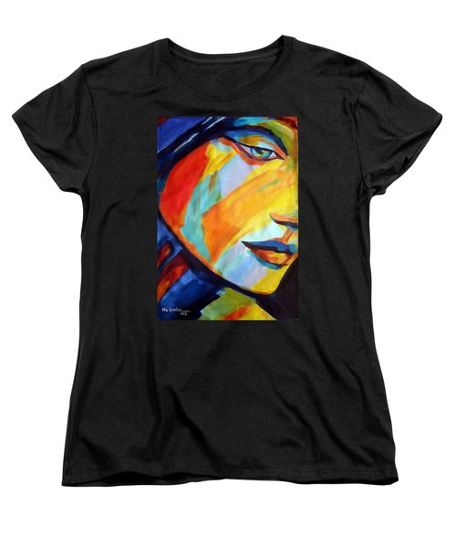Women's T-Shirt (Standard Cut) featuring the painting Sentiment by Helena Wierzbicki