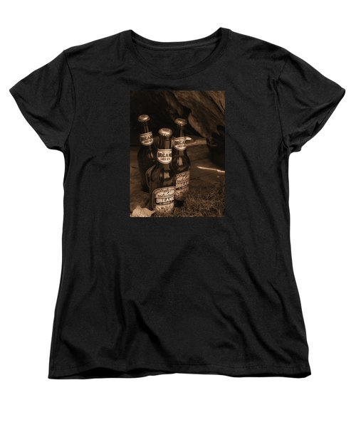 Sepia Bottles Women's T-Shirt (Standard Cut) by Rachel Mirror