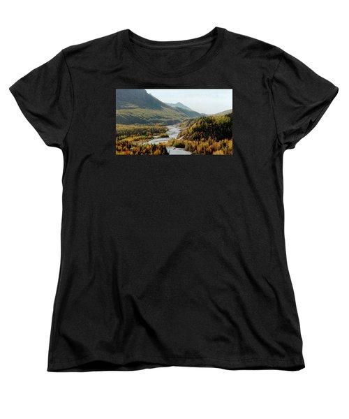 September Morning In Alaska Women's T-Shirt (Standard Cut) by Denyse Duhaime