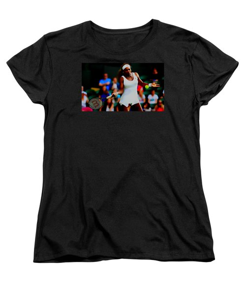 Serena Williams Making It Look Easy Women's T-Shirt (Standard Cut) by Brian Reaves
