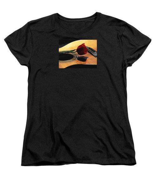 Serenade Women's T-Shirt (Standard Cut) by Angela Davies
