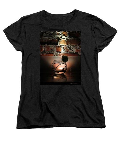 Shadow Flower Women's T-Shirt (Standard Cut) by Leena Pekkalainen