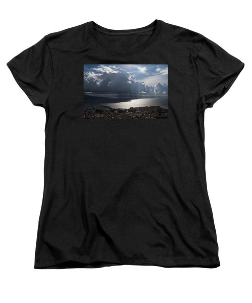 Women's T-Shirt (Standard Cut) featuring the photograph Shadows Of Clouds by Georgia Mizuleva