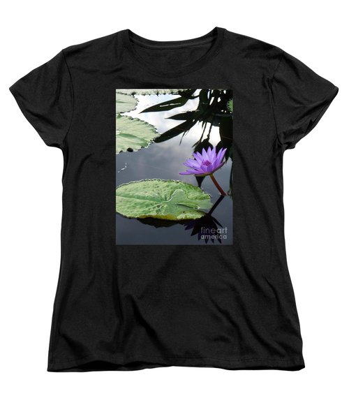 Shadows On A Lily Pond Women's T-Shirt (Standard Cut) by Eric  Schiabor