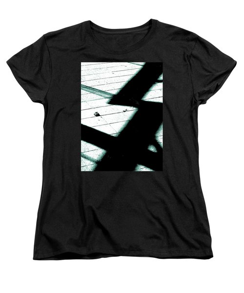 Shadows On The Floor  Women's T-Shirt (Standard Cut) by Steve Taylor
