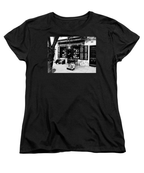 Shakespeare And Company Boookstore In Paris France Women's T-Shirt (Standard Cut) by Richard Rosenshein
