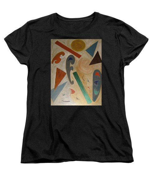 Women's T-Shirt (Standard Cut) featuring the painting Shapes by Barbara Yearty