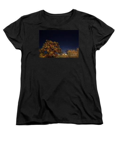 Women's T-Shirt (Standard Cut) featuring the photograph Sharing The Land by Angela J Wright