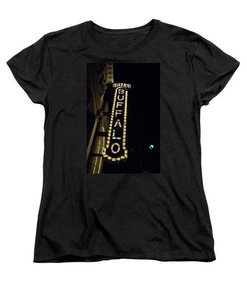 Shea's Buffalo Women's T-Shirt (Standard Cut) by Guy Whiteley