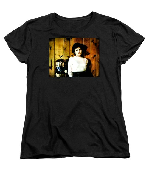 Women's T-Shirt (Standard Cut) featuring the painting Shed Been Murdered by Luis Ludzska