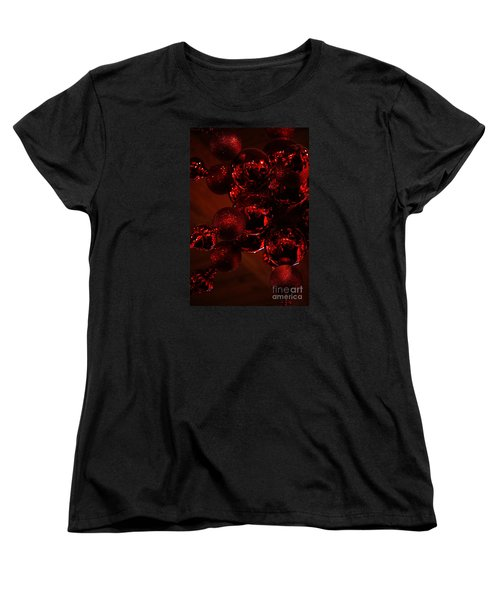 Shimmer In Red Women's T-Shirt (Standard Cut) by Linda Shafer